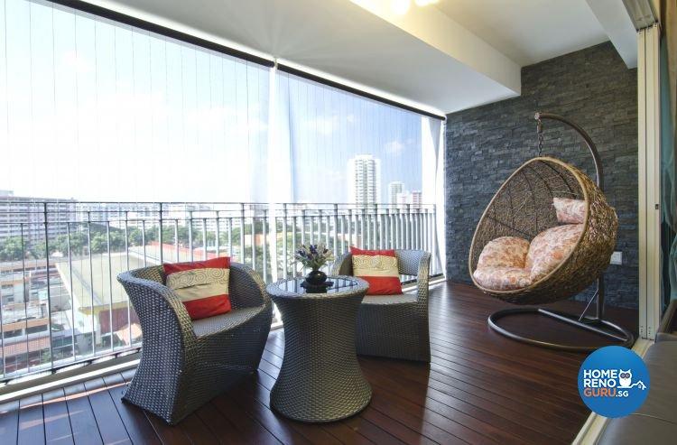 Contemporary, Modern Design - Balcony - Condominium - Design by Inner View Design & Contracts Pte Ltd