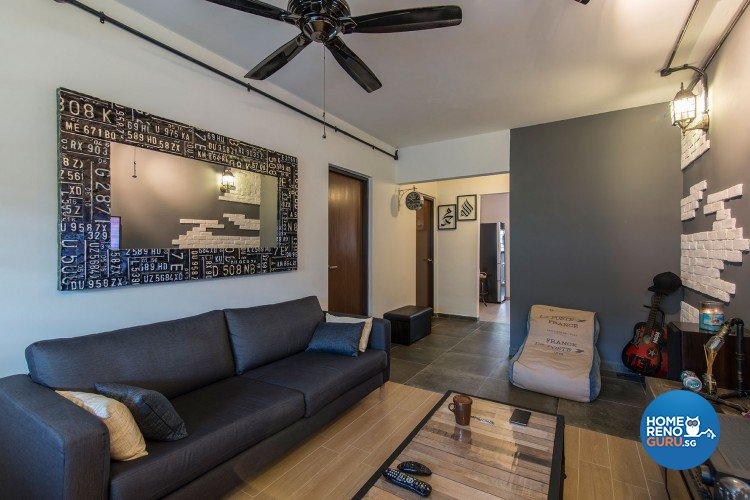 Industrial, Scandinavian Design - Living Room - HDB 3 Room - Design by Innerglow Design Pte Ltd