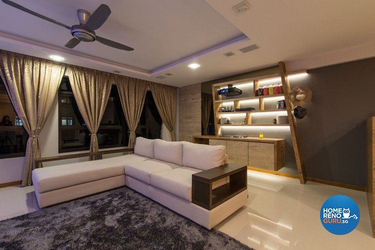 Minimalist, Modern Design - Living Room - HDB 5 Room - Design by Innerglow Design Pte Ltd