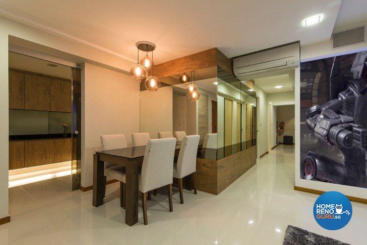 Minimalist, Modern Design - Dining Room - HDB 5 Room - Design by Innerglow Design Pte Ltd