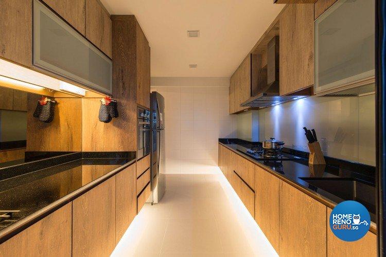 Minimalist, Modern Design - Kitchen - HDB 5 Room - Design by Innerglow Design Pte Ltd