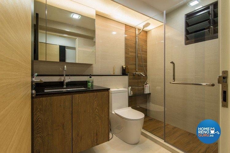 Minimalist, Modern Design - Bathroom - HDB 5 Room - Design by Innerglow Design Pte Ltd