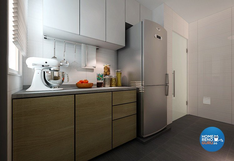 Contemporary, Modern Design - Kitchen - HDB 3 Room - Design by Innerspace Design Solutions