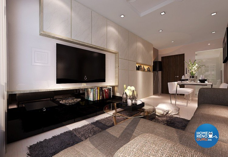 Contemporary, Modern Design - Living Room - HDB 3 Room - Design by Innerspace Design Solutions