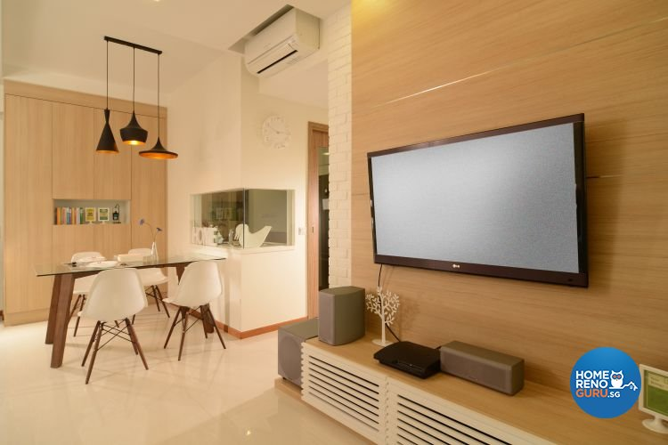 Contemporary, Scandinavian, Tropical Design - Dining Room - Condominium - Design by Inside Living Pte Ltd