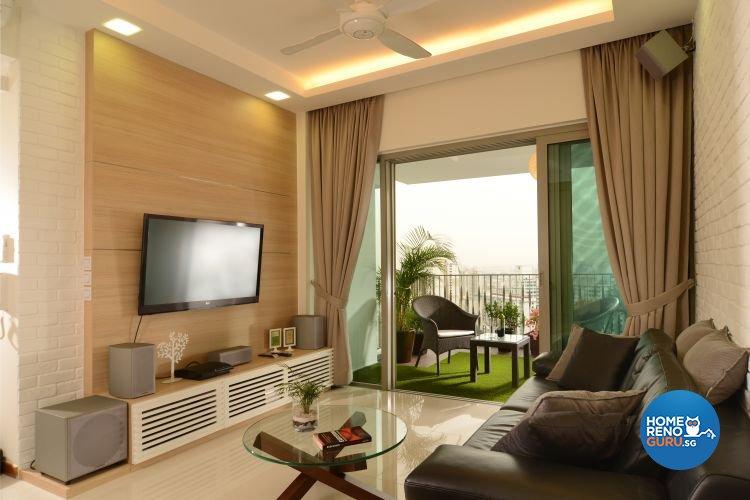 Contemporary, Scandinavian, Tropical Design - Living Room - Condominium - Design by Inside Living Pte Ltd