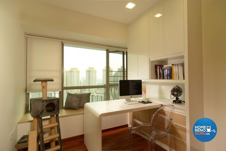 Contemporary, Scandinavian, Tropical Design - Study Room - Condominium - Design by Inside Living Pte Ltd