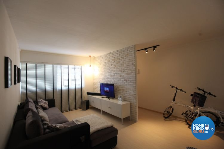 Classical, Industrial, Modern Design - Living Room - HDB 4 Room - Design by Inspiration Living