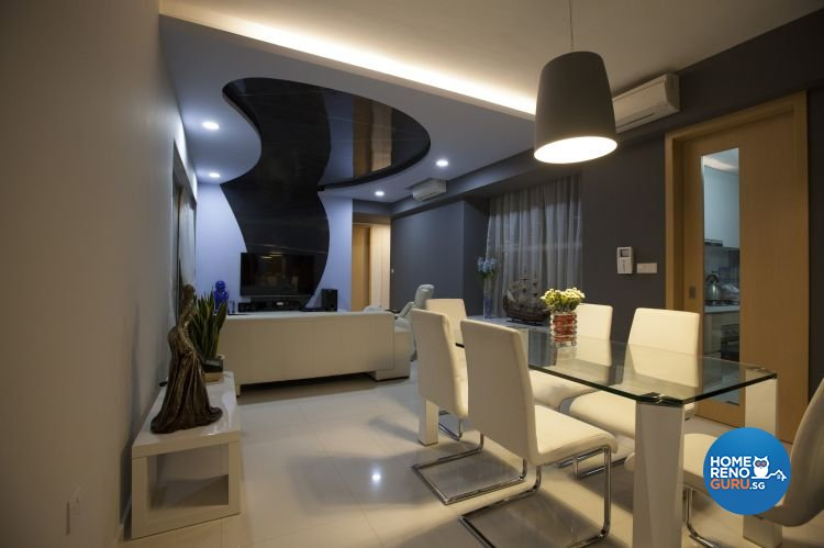 Eclectic, Modern Design - Living Room - Condominium - Design by Inspiration Living