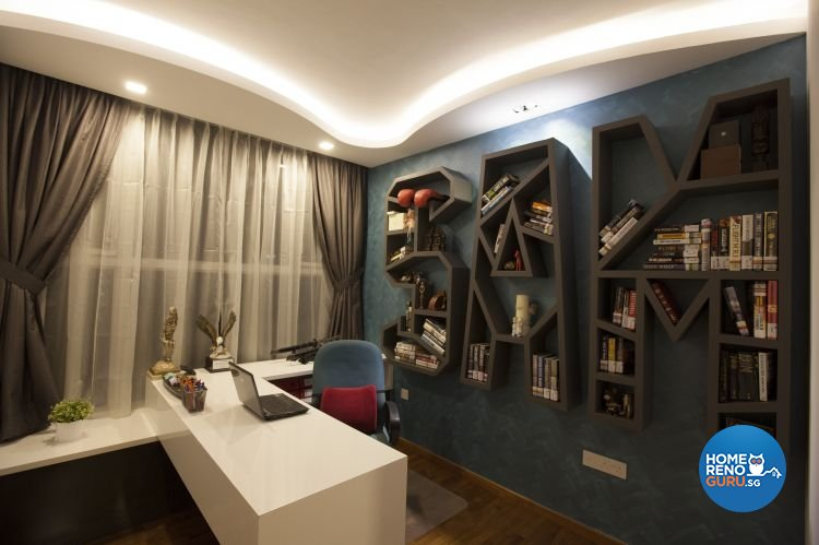 Eclectic, Modern Design - Study Room - Condominium - Design by Inspiration Living
