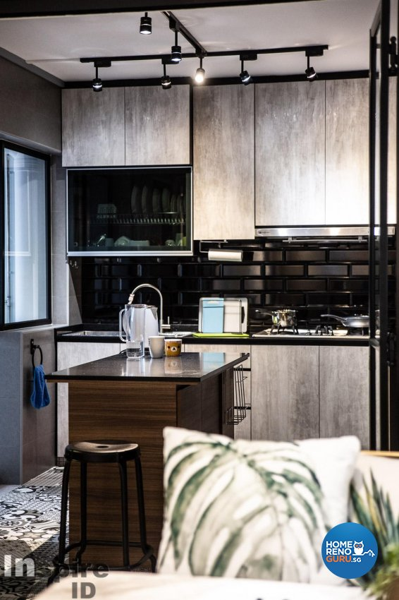 Industrial, Others, Scandinavian Design - Kitchen - HDB 4 Room - Design by Inspire ID Group Pte Ltd