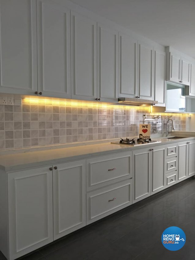 Victorian Design - Kitchen - HDB 4 Room - Design by Inspire ID Group Pte Ltd