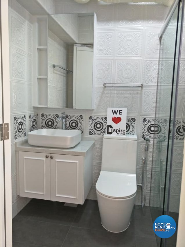 Victorian Design - Bathroom - HDB 4 Room - Design by Inspire ID Group Pte Ltd