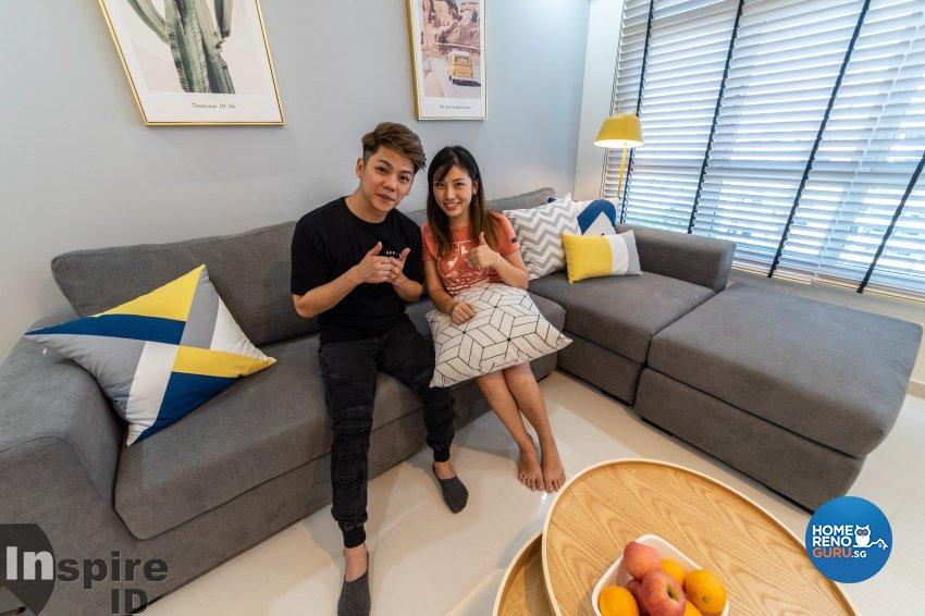 Modern, Scandinavian Design - Living Room - HDB 5 Room - Design by Inspire ID Group Pte Ltd