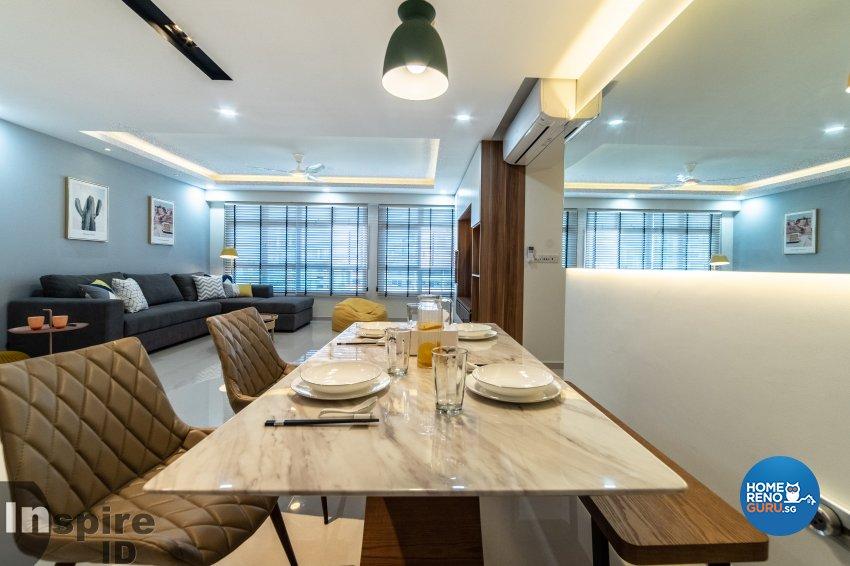Modern, Scandinavian Design - Dining Room - HDB 5 Room - Design by Inspire ID Group Pte Ltd