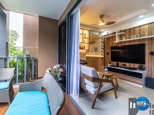 Modern, Scandinavian Design - Balcony - Condominium - Design by Inspire ID Group Pte Ltd