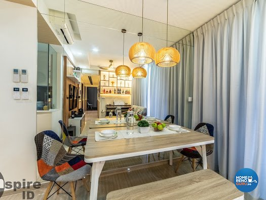 Modern, Scandinavian Design - Dining Room - Condominium - Design by Inspire ID Group Pte Ltd