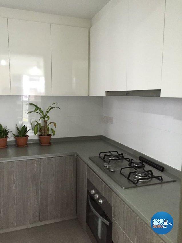 Minimalist, Modern Design - Kitchen - Condominium - Design by Inspire ID Group Pte Ltd