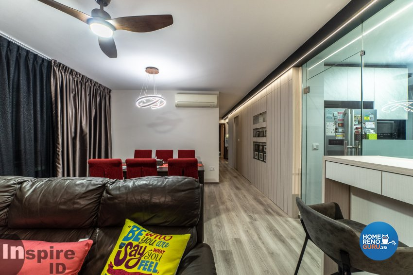 Modern, Scandinavian Design - Living Room - HDB 5 Room - Design by Inspire ID Group Pte Ltd