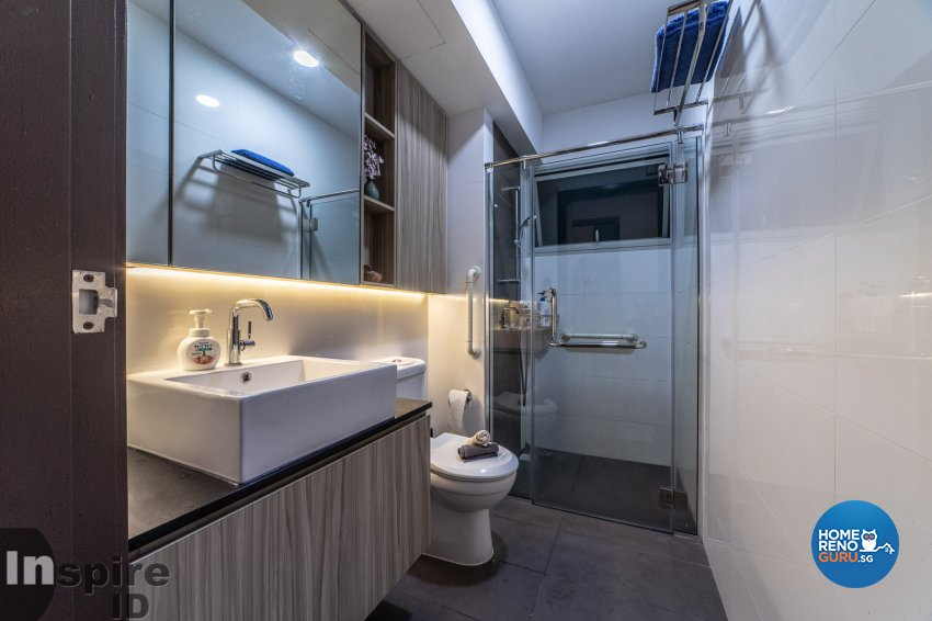 Modern, Scandinavian Design - Bathroom - HDB 5 Room - Design by Inspire ID Group Pte Ltd