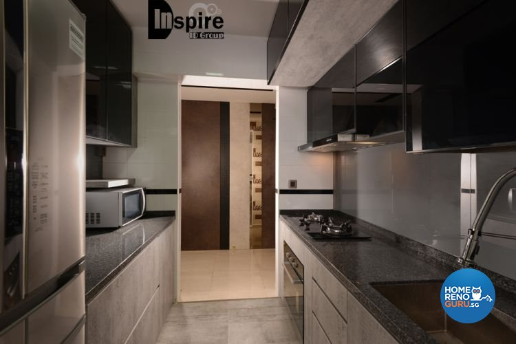 Country, Resort, Rustic Design - Kitchen - HDB 3 Room - Design by Inspire ID Group Pte Ltd