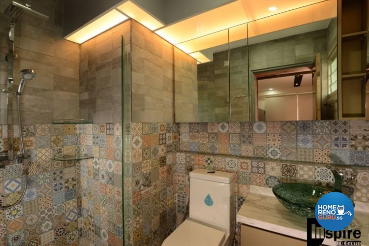 Country, Resort, Rustic Design - Bathroom - HDB 3 Room - Design by Inspire ID Group Pte Ltd