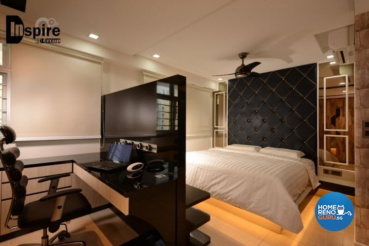 Country, Resort, Rustic Design - Bedroom - HDB 3 Room - Design by Inspire ID Group Pte Ltd