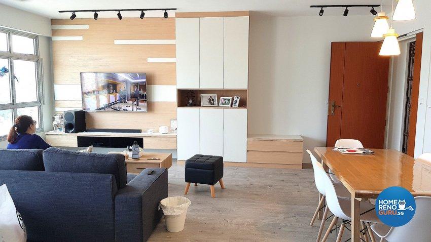 Minimalist, Modern, Scandinavian Design - Living Room - HDB 4 Room - Design by Inspire ID Group Pte Ltd