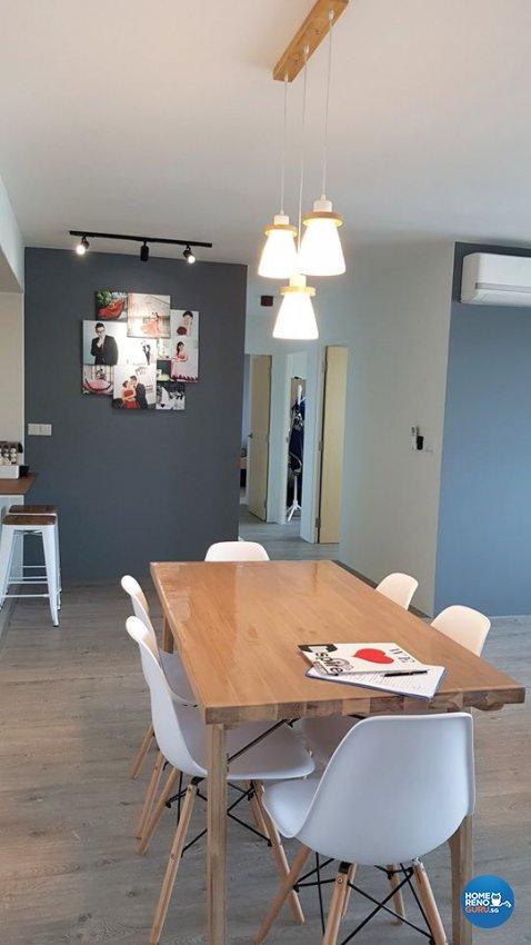 Minimalist, Modern, Scandinavian Design - Dining Room - HDB 4 Room - Design by Inspire ID Group Pte Ltd