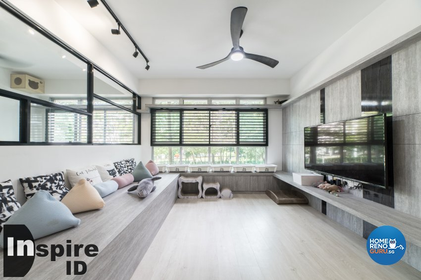 Industrial, Modern, Scandinavian Design - Living Room - HDB 4 Room - Design by Inspire ID Group Pte Ltd