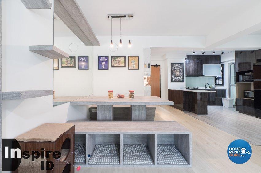 Industrial, Modern, Scandinavian Design - Dining Room - HDB 4 Room - Design by Inspire ID Group Pte Ltd