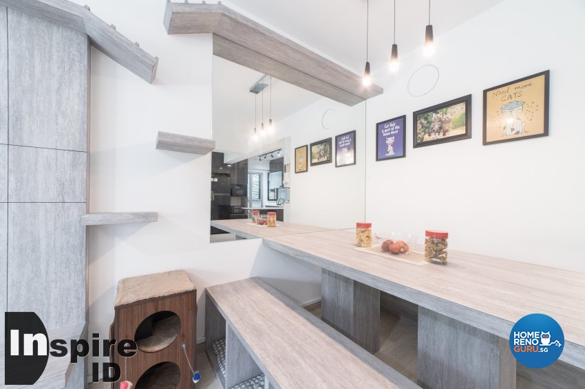 Industrial, Modern, Scandinavian Design - Dining Room - HDB 4 Room - Design by Inspire ID Group Pte Ltd