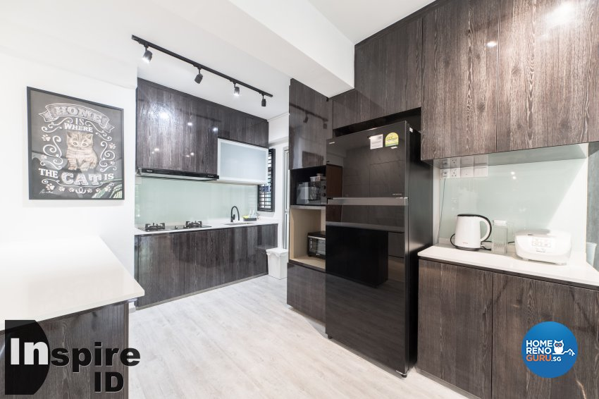 Industrial, Modern, Scandinavian Design - Kitchen - HDB 4 Room - Design by Inspire ID Group Pte Ltd