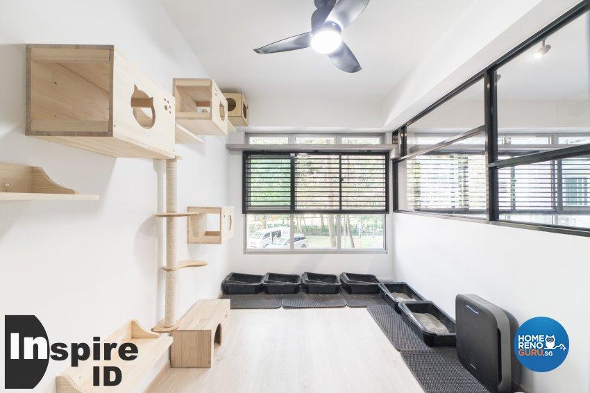 Industrial, Modern, Scandinavian Design - Entertainment Room - HDB 4 Room - Design by Inspire ID Group Pte Ltd