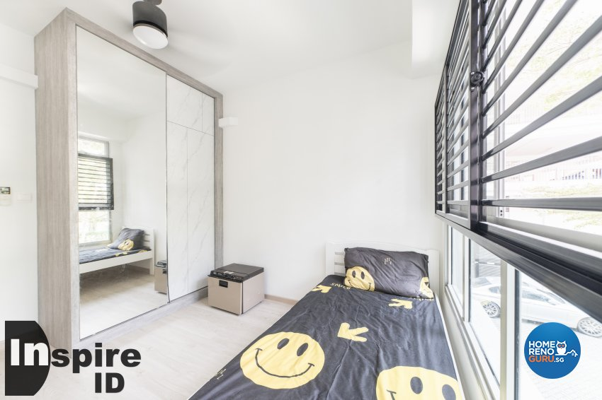 Industrial, Modern, Scandinavian Design - Bedroom - HDB 4 Room - Design by Inspire ID Group Pte Ltd