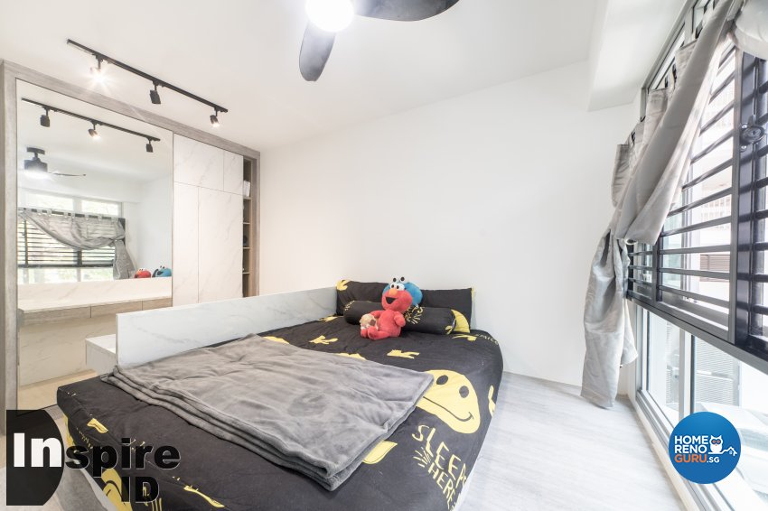 Industrial, Modern, Scandinavian Design - Bedroom - HDB 4 Room - Design by Inspire ID Group Pte Ltd