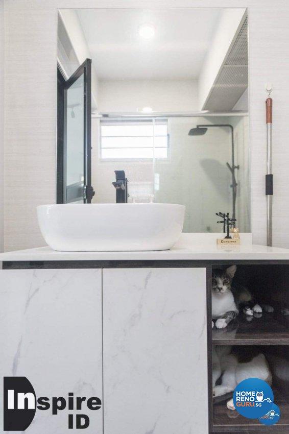Industrial, Modern, Scandinavian Design - Bathroom - HDB 4 Room - Design by Inspire ID Group Pte Ltd