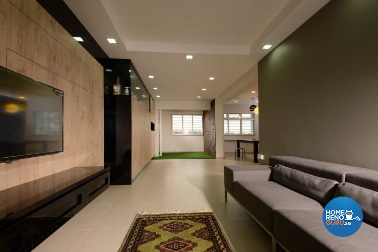 Contemporary, Modern Design - Living Room - HDB 5 Room - Design by Inspire ID Group Pte Ltd