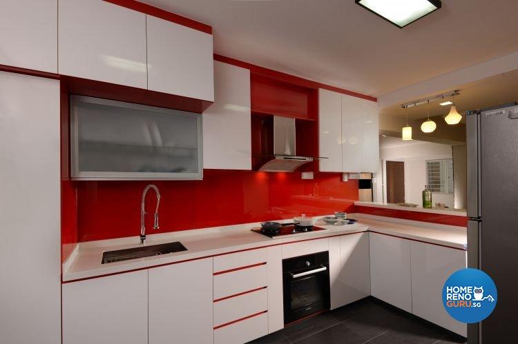 Contemporary, Modern Design - Kitchen - HDB 5 Room - Design by Inspire ID Group Pte Ltd