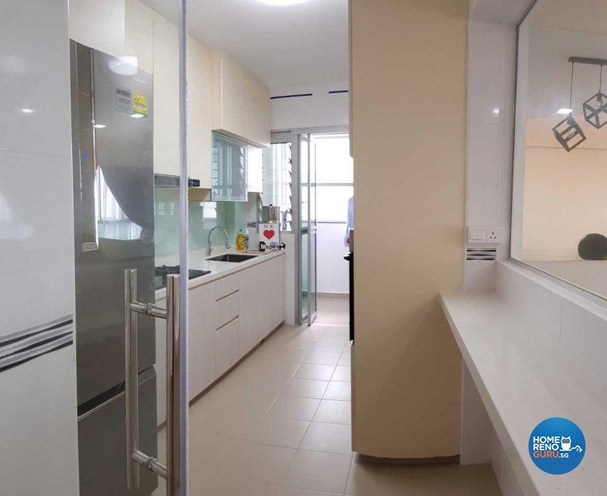 Minimalist, Scandinavian Design - Kitchen - HDB 4 Room - Design by Inspire ID Group Pte Ltd