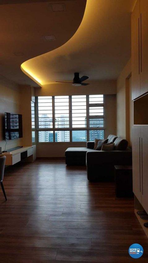 Minimalist, Scandinavian Design - Living Room - HDB 4 Room - Design by Inspire ID Group Pte Ltd
