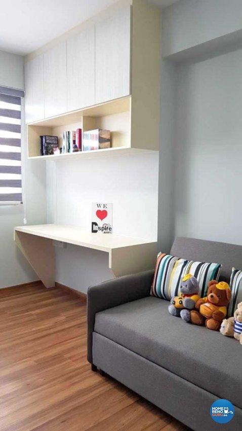 Minimalist, Scandinavian Design - Study Room - HDB 4 Room - Design by Inspire ID Group Pte Ltd