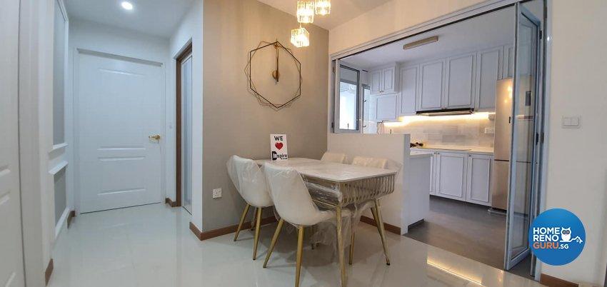 Modern, Victorian Design - Kitchen - HDB 4 Room - Design by Inspire ID Group Pte Ltd