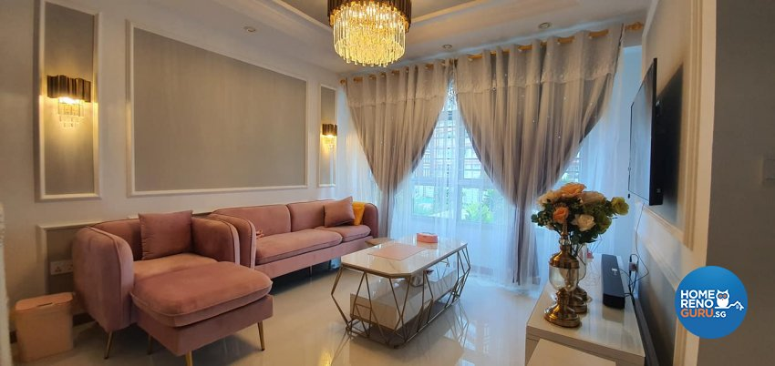 Modern, Victorian Design - Living Room - HDB 4 Room - Design by Inspire ID Group Pte Ltd
