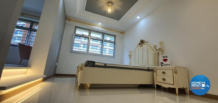 Modern, Victorian Design - Bedroom - HDB 4 Room - Design by Inspire ID Group Pte Ltd