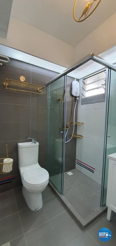 Modern, Victorian Design - Bathroom - HDB 4 Room - Design by Inspire ID Group Pte Ltd