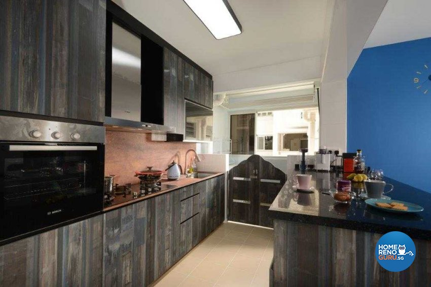 Eclectic, Industrial, Rustic Design - Kitchen - HDB 5 Room - Design by Inspire ID Group Pte Ltd
