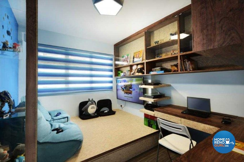 Eclectic, Industrial, Rustic Design - Entertainment Room - HDB 5 Room - Design by Inspire ID Group Pte Ltd