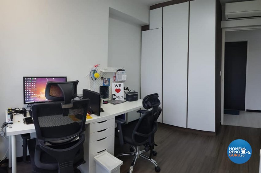 Contemporary, Minimalist, Modern Design - Study Room - HDB 5 Room - Design by Inspire ID Group Pte Ltd