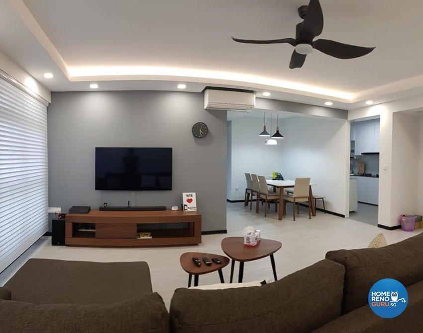 Contemporary, Minimalist, Modern Design - Living Room - HDB 5 Room - Design by Inspire ID Group Pte Ltd